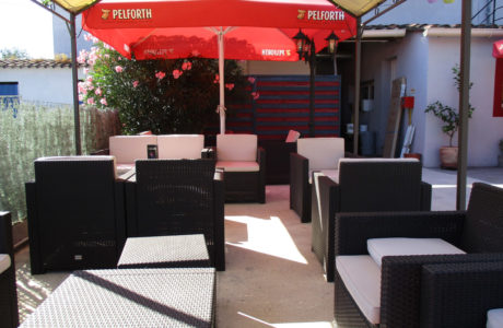 Terrace lounge corner