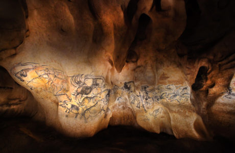 La Caverne du Pont d'Arc - Le panneau des lions © Patrick Aventurier